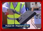 TV07: Fireproof Sponge for Fire Prevention